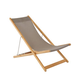 Beach Chair Sling Taupe with teak frame