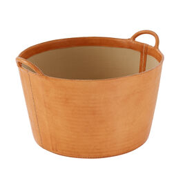 Bac Leather Log Basket
