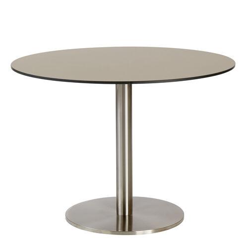 ronda single pedestal table 100 hpl taupe garpa. Black Bedroom Furniture Sets. Home Design Ideas