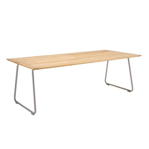 ronda sled base table 220 x 100 teak garpa. Black Bedroom Furniture Sets. Home Design Ideas