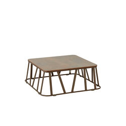 Clifton Side Table 71 x 71, Patina Grey-Brown