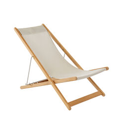 Beach Chair Sling Cream with teak frame