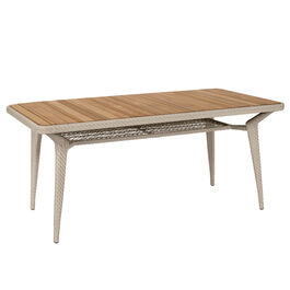 Charleston Table 165 x 90  with teak top