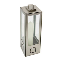 Lucido Natural Stainless Steel Lantern, Small