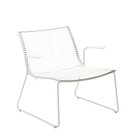 Pan Armchair with Armrests, White