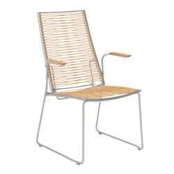 Pan High Back Chair 60, Brown