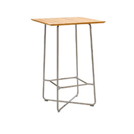 Bar Table 70 x 70 Stainless Steel, Teak